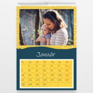 Kalendár veľký - Modrožltý