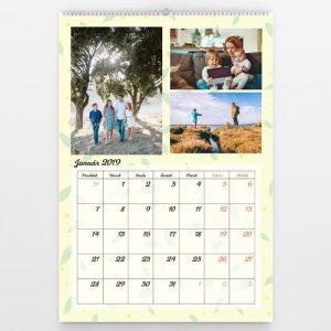 Kalendár veľký - Žltý pastel