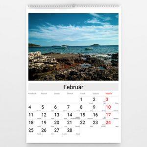 Kalendár veľký - Gray bar