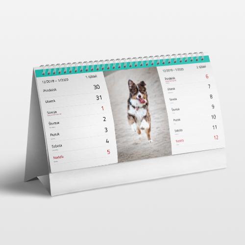 Stolový fotokalendár dvojtýždňový