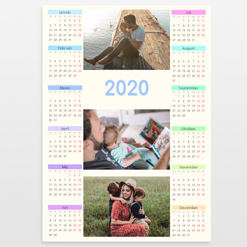 Kalendár 2020 ročný na výšku