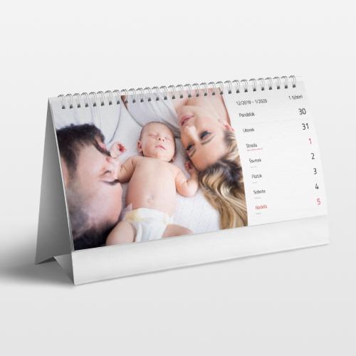 Stolový fotokalendár týždenný