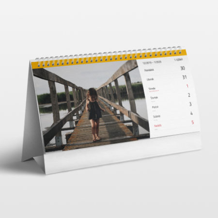 Fotokalendár 2021 stolový týždenný 14x30cm
