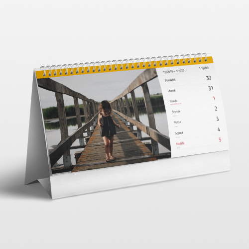 Fotokalendár 2020 stolový týždenný 14x30cm