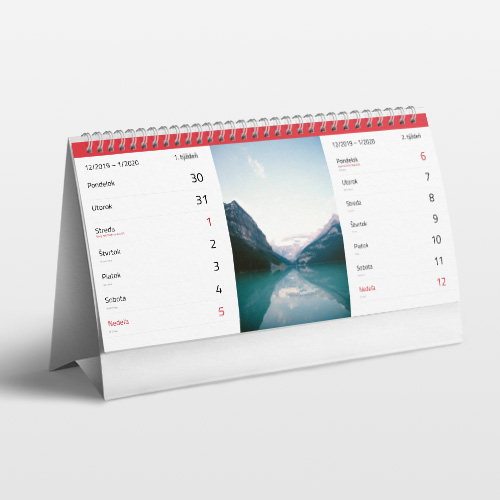 Fotokalendár 2020 stolový dvojtýždňový 14x30cm