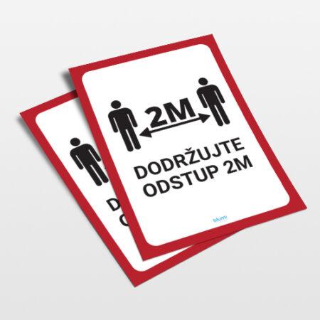 Informačné plagáty - CORONA - ODSTUP